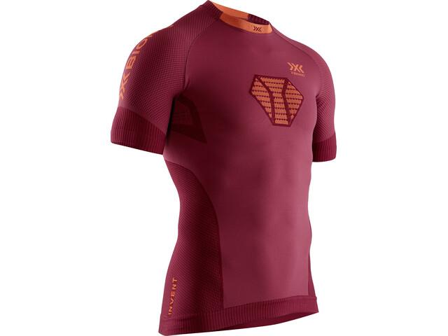X-Bionic Invent 4.0 Run Speed Shirt SH SL Men namib red/kurkuma orange